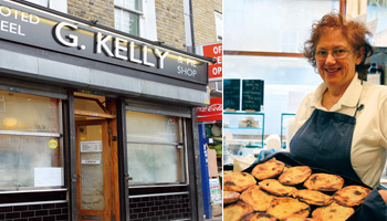 G. KELLY noted eel & pie shop